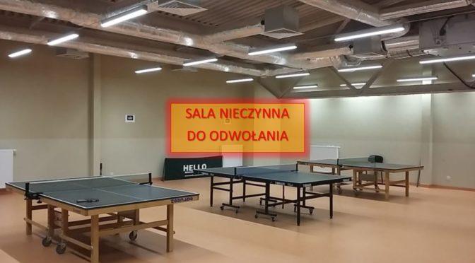 Do 25 kwietnia sala treningowa będzie zamknięta